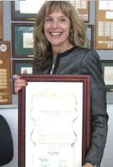Deborah Rocha, Chair of the Conference Committee with the Board of Supervisors Declaration supporting Mediation Week.