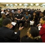 Commissioner Ken Inouye addresses the December 8 Listening Session