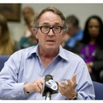 Irvine attorney Christopher Mears speaks before the OC Human Relations Commission