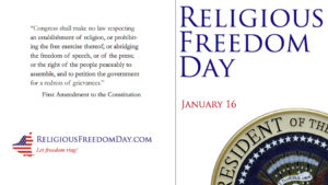 National Religious Freedom Day