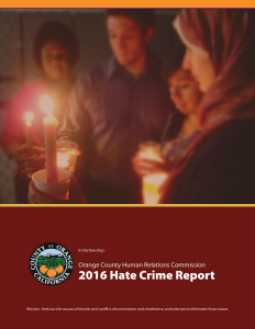2016 Hate Crime Report