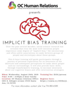 Implicit Bias Training @ OC Human Relations Offices