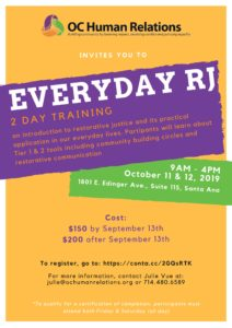 Everyday RJ Training @ OC Human Relations