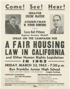Rumford Fair Housing Act Passed (1963)