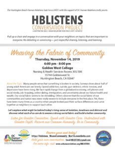 HB Listens Conversation Project @ Golden West College