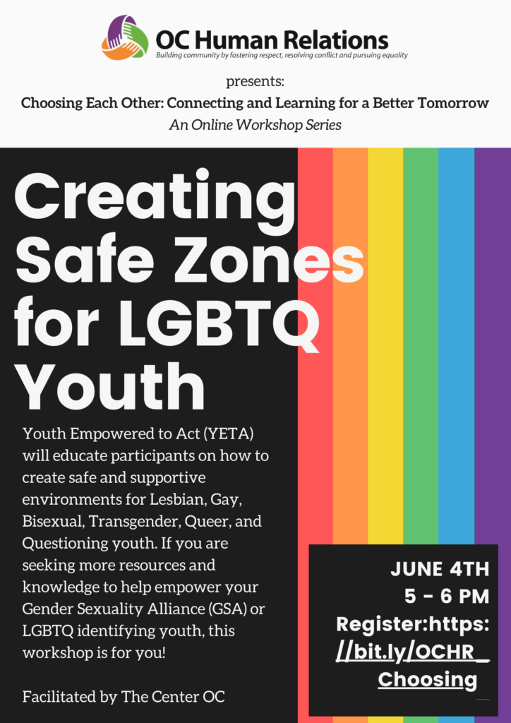 Creating Safe Zones for LGBTQ Youth: An Online Seminar