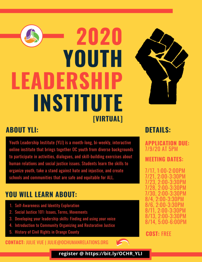 Youth Leadership Institute (2020) Starts