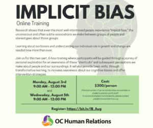 Implicit Bias Training Begins @ Online