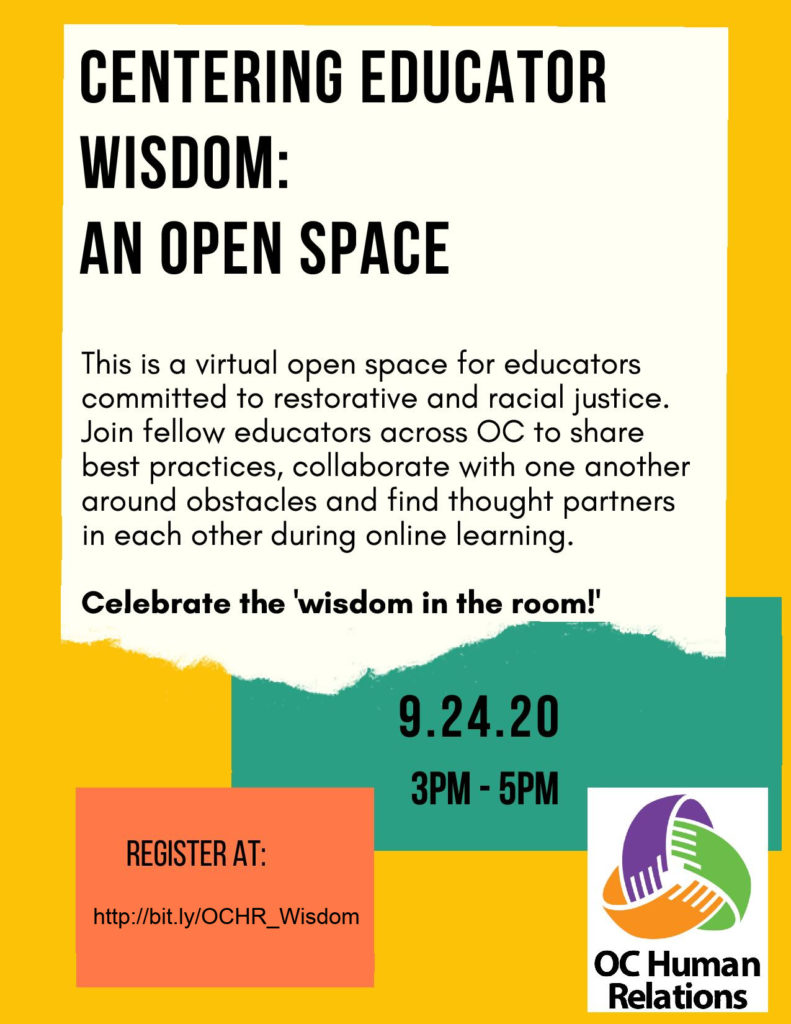 Centering Educator Wisdom flyer