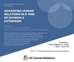 Advancing Human Relations Virtual Presentation @ Online