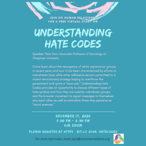 Understanding Hate Codes Virtual Event @ Online