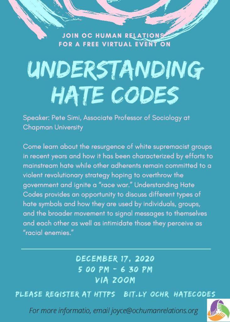 Understanding Hate Codes flyer