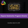 Employment Opportunity: Dispute Resolution Program Director