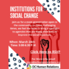 Institutions for Social Change Webinar
