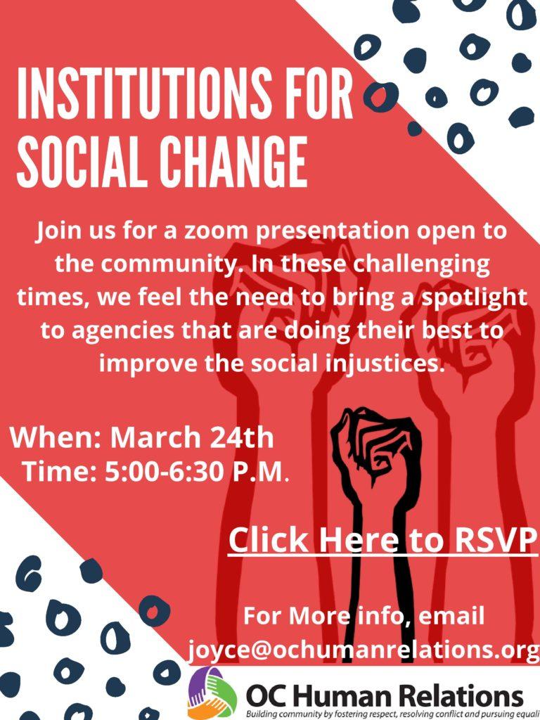 Social Justice Organizations flyer