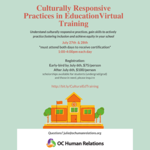 Culturally Responsive Practices in Education Training @ Online