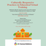 Culturally Responsive Practices in Education Training