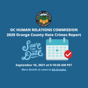Release of the 2020 OC Hate Crime Report
