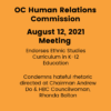 Statements from Aug 12 Commission Meeting